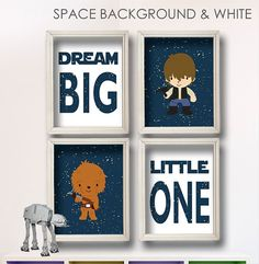 Baby Boy Star Wars Nursery Art Boy Room Decor by StarWarsPrintShop, $34.00