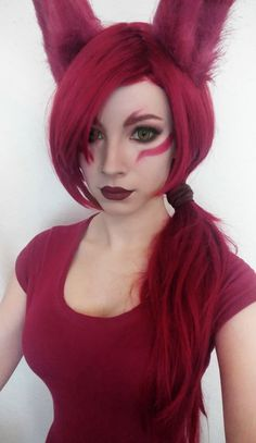 Before doing a cosplay I always doing a makeup test to make sure if the character fits me or not. Today I did a makeup test for the new LOL champion, Xayah. Yay or nay? ^_^