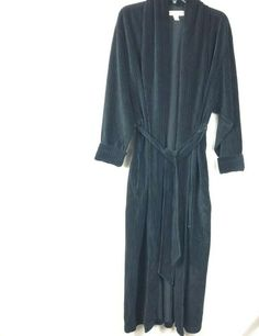 368dd8799 Victoria's Secret Women size XS / S Black Belted Bathrobe Corduroy Long Robe  52K #VictoriasSecret