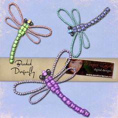 Ważka   Hand Made - inspiracje i dekoracje tutorial / nice as earrings or a brooch