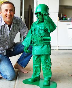 Spray-painted toy soldier