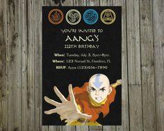 Digital Avatar: The Last Airbender/Legend of Korra Birthday Invite. $8.00, via Etsy.
