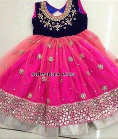 Mirror Work Net Frock - Indian Dresses