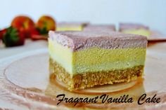 Fragrant Vanilla Cake: Raw Summer Fruits Bars