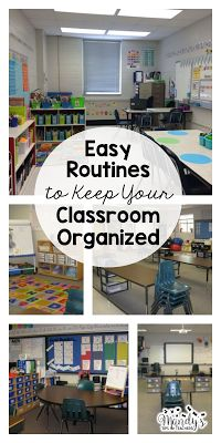 Easy routines to keep your classroom clean and tidy!