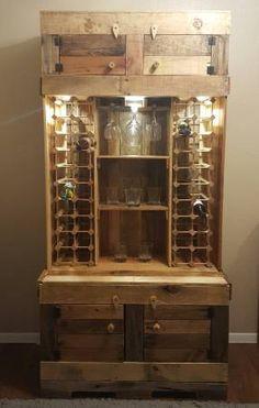Pallet Liquor Cabinet Diy Pinterest Liquor Cabinet