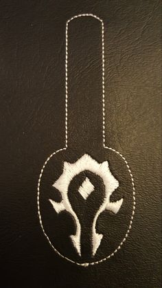 World of Warcraft Horde Symbol Key Fob Machine Embroidery Design Embroidering Machine, Horde, World Of Warcraft, 2 Colours, Machine Embroidery Designs, Symbols, Key, Lights, Stitch