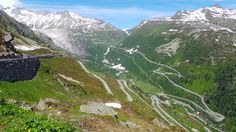 Climbing up Grimsel, with a view on Furka on the opposite side. Alps, Climbing, Mountains, Nature, Travel, Italia, Naturaleza, Viajes, Rock Climbing
