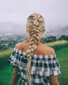 """38.1k Likes, 228 Comments - AMBER FILLERUP CLARK (@amberfillerup) on Instagram: """"My go to braid! Go to @barefootblondehair to see a tutorial for this look and how I clip in my…"""""""