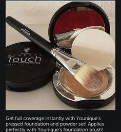 YOuniques pressed powder all you need to get that beautiful glow! Www.youniqueproducts.com/LauraRomeo