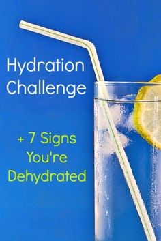 Beat the summer heat & stay hydrated! You may be dehydrated & not even know. Take this hydration challenge for your health!