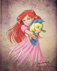 Ariel is MY FAVORITE, even more so now that I have a red headed daughter.  WANT SO BAD for her room!!!!