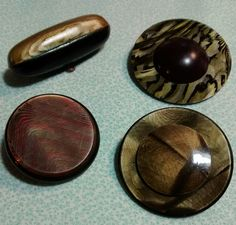Vintage Celluloid Buttons by BygoneButtonBoutique on Etsy