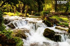 Waterfalls in the forest, Krka National Park, Croatia. #123rf
