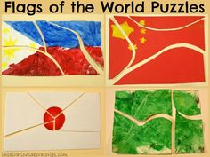 Make your own flags of the world puzzles #readforgood