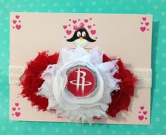 Houston Rockets headband football headband baby by AnisasBowtique, $12.00