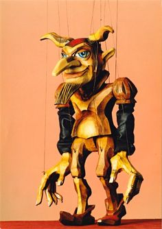 Hand carved wood marionettes have such character