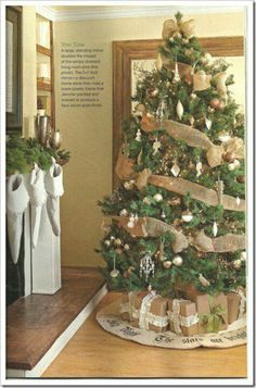 Use some burlap on the tree