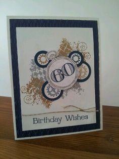 Masculine birthday card. Clockworks Stamp Set. Got Stamped Blog.