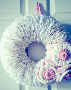 doilies wreath.