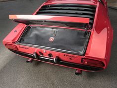 1969 LAMBORGHINI Miura S Red with Gold Wheels and Sills with Tan