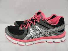 2012 Women's ASICS Gel-EXCEL33 Gray/Pink/Black Running Shoes - Size 9.5 - T221N