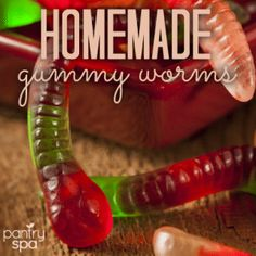 - Gummy Worm Recipe Ingredients: - 1 Package Gelatin (any flavor) - 2/3 cup Water (or Juice) How to Make Gummy Worms: Gummy worms are yummy to eat and fun to