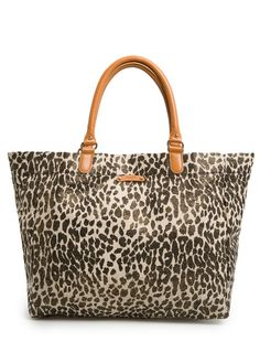 MANGO - Shopper lona metalizada leopardo