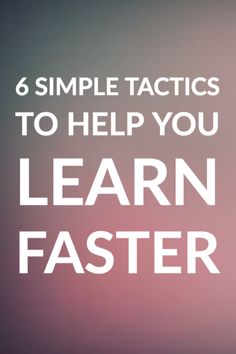 By understanding how the brain learns, you can dramatically improve the speed and efficiency of learning. Here's how.