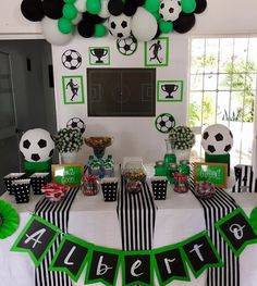 Ideas For Sport Party Theme Ideas Soccer Birthday Parties, Football Birthday, Sports Birthday, Soccer Party, Sports Party, Birthday Party Themes, Soccer Baby Showers, Party Time, Decoration