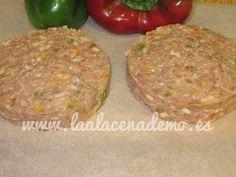 Hamburguesa con verduras y queso con thermomix - La Alacena de MO