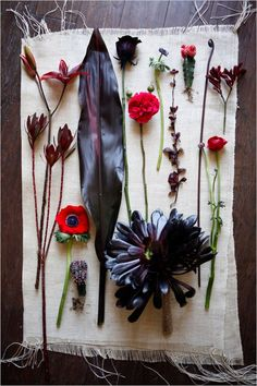 black, red and dark purple wedding flowers for you bouquet