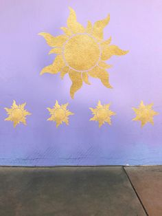 56d4ca416a3 Tangled Sun Decal - Rapunzel Star Decal from Movie Tangled - Disney  Princess Wall Decal