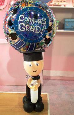 Como hacer  un muñeco de graduación con globos - YouTube