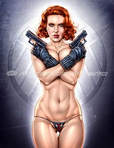 BLACK WIDOW - AVENGERS - COLORS by Armando-Huerta on deviantART