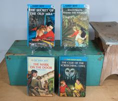 Hardy Boys 4 Books • 1960s 1990s • Blue Covers • Vintage • Franklin W. Dixon • Great Gift by 13thStreetEmporium on Etsy