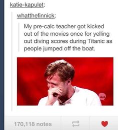 I love Titanic, and I have IMMENSE respect for what those poor passengers went through for real in 1912- but I also have respect for clever humor and this is truly hilarious lol