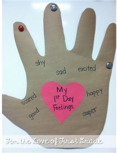 A great activity to talk about feelings on the first day of school
