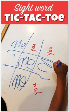 Sight word tic-tac-toe is a great way to teach sight words in a fun and hands-on manner! Sight word games keep children engaged an learning. || Gift of Curiosity