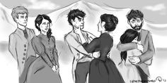 Meeting Mr. and Mrs. Herondale, from Clockwork Princess by Cassandra Clare