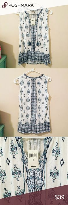 Lucky Brand Sleeveless Shirt This shirt is lightweight and the material is very soft! Perfect for summer Lucky Brand Tops Blouses