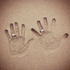 engagement photo idea since he proposed on the beach