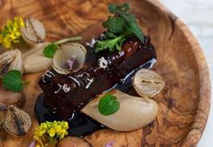 Slow-roasted short rib, hazelnut purée and bone marrow, Chiltern Firehouse.  Celebrities sprinkle stardust through the dining room, while staff prove they are far more than a cast of pretty faces.  http://www.squaremeal.co.uk/restaurant/chiltern-firehouse