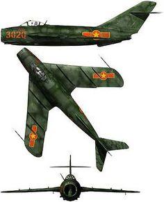 "MiG MiG-17/J-5/Lim-5/Lim-6 Fresco | North Vietnam | 923rd IAP ""Yen The"" | MiG-17F | 3020:"