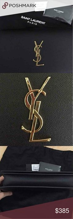 "YSL CLUTCH authentic sell my whole ysl.collection very cheap bc i need money for my cat surgery.  HeLp. Black, brand-new, No scratch or mark   Dimensions: 9.4"" x 4.9"" x 2.1"" Yves Saint Laurent Bags"