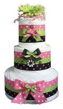 ...baby girl diaper cake