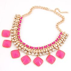 Neon Flamingo Holly Statement Necklace Available In Pink & Black. £9.50