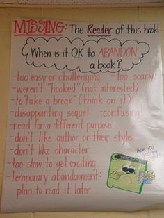 When is it OK to abandon a book?  It needs a NOT OK companion chart! :)