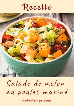 Le #melon ne se déguste pas qu'en tranches… La preuve avec cette #recette de salade d'été sucrée-salée #cuisine