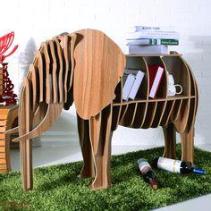 Elefante mesa rompecabezas, muebles animales creativo, MDF DIY montado elefante para los moda sala de estar, animal de madera muebles